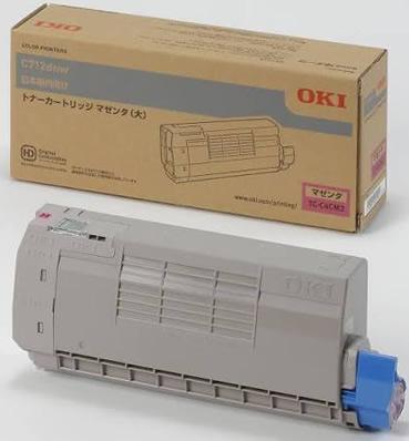 沖データ(OKI)純正TC-C4CM2 トナーカートリッジ マゼンタ大容量